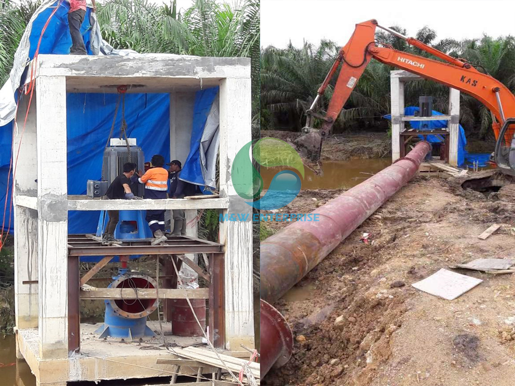 Axial flow pump project in Surabaya Indonesia